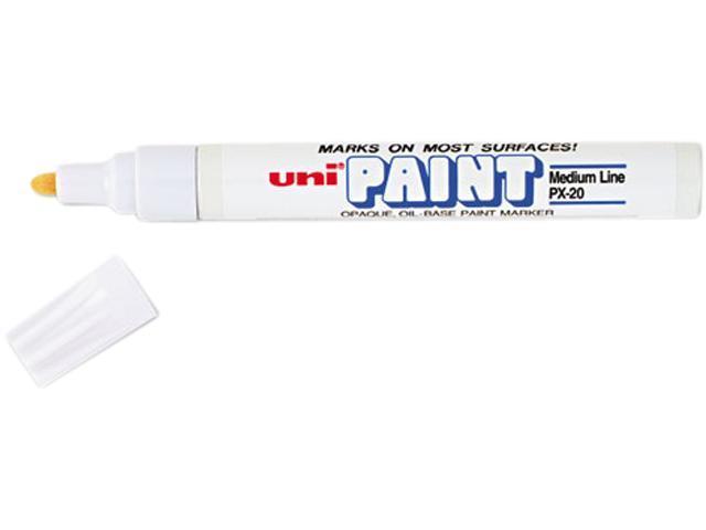 Sanford 63613 uni-Paint Marker, Medium Point, White