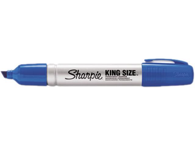 Sharpie 15003 King Size Permanent Marker, Chisel Tip, Blue, Dozen