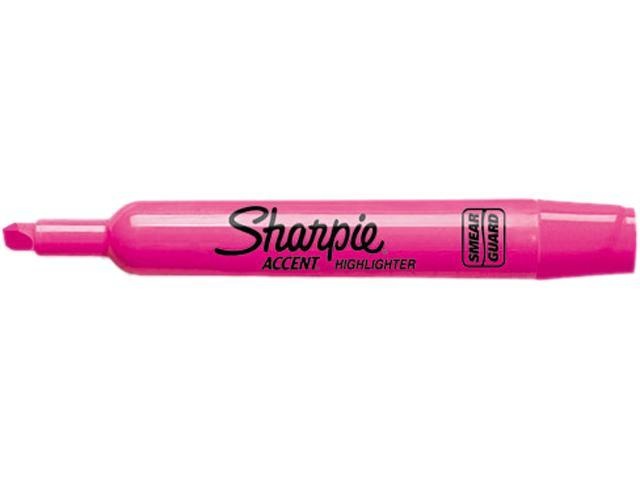Sharpie 25009 Accent Tank Style Highlighter, Chisel Tip, Pink, 12/Pk