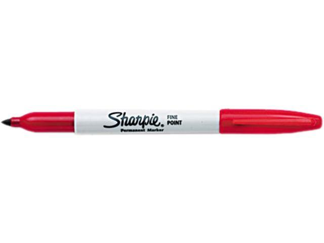 Sharpie 30002 Permanent Marker, Fine Point, Red, Dozen