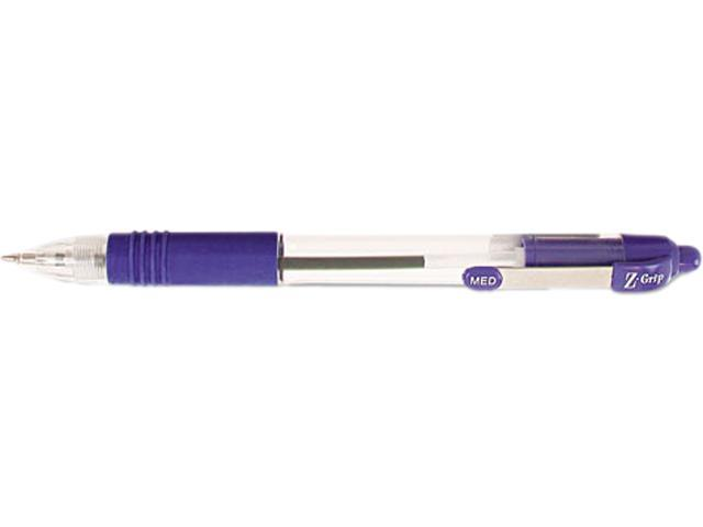 Zebra Z-Grip Retractable Ballpoint Pen, Blue Ink, Medium, 1.0 mm (Dozen)