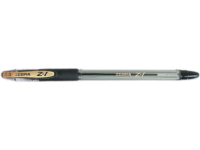 Zebra 23810 Z-1 Ballpoint Stick Pen, Black Ink, Medium, Dozen