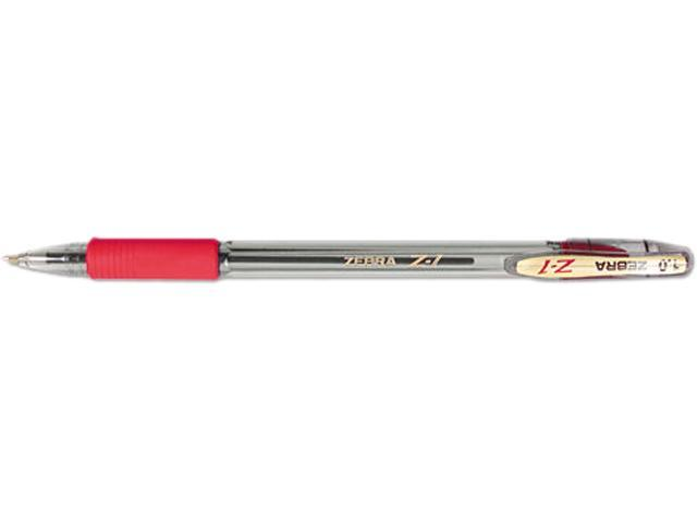 Zebra 23830 Z-1 Ballpoint Stick Pen, Red Ink, Medium, Dozen