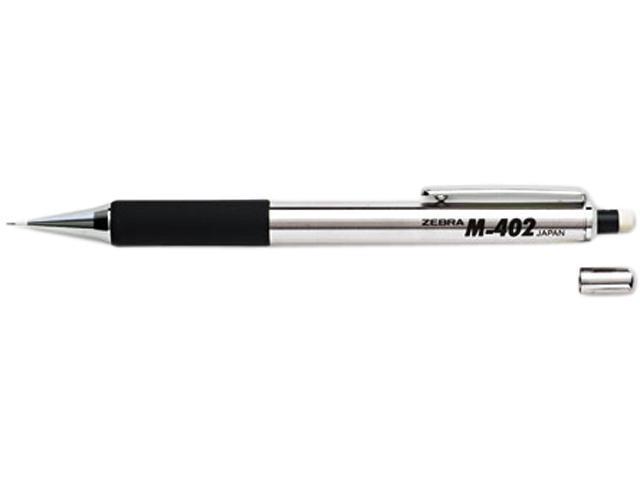 Zebra 59210 M-402 Mechanical Pencil, 0.50 mm, Stainless Steel Barrel