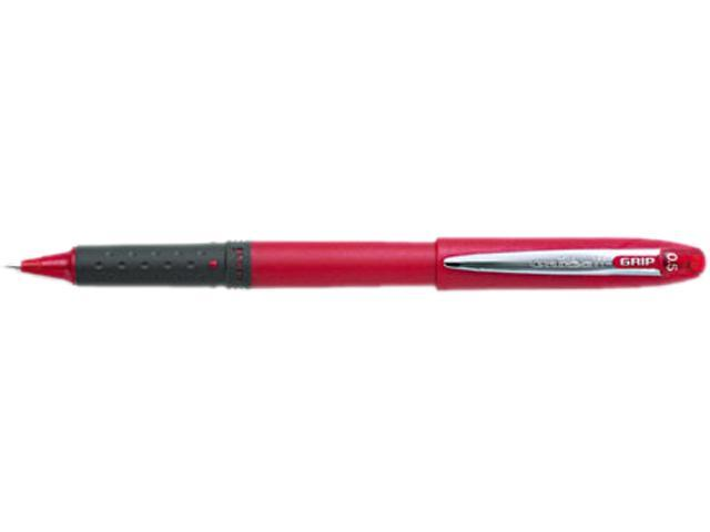 uni-ball 60706 Grip Roller Ball Stick Water-Proof Pen, Red Ink, Micro, Dozen