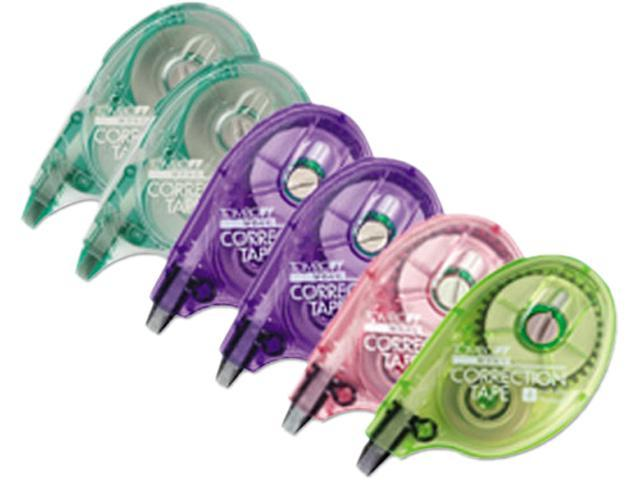 "Tombow Mono 68670 MONO Correction Tape, Assorted Retro Color Dispensers, 1/6"" x 394"", 6/Box"