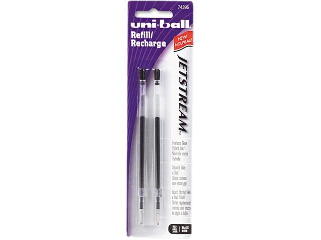 uni-ball 74396PP Refill for uni-ball JetStream Ballpoint, Bold, Black Ink, 2/Pack