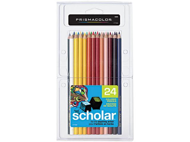Prismacolor 92805 Scholar Colored Woodcase Pencils, 24 Assorted Colors/Set