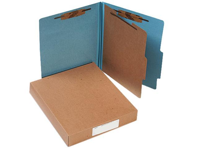 Acco 15024 Pressboard 25-Pt. Classification Folders, Letter, Four-Section, Sky Blue, 10/Box