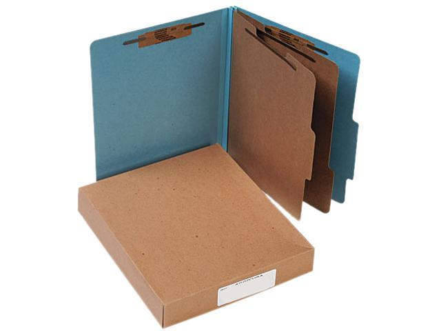 Acco 15026 Pressboard 25-Pt. Classification Folders, Letter, Six-Section, Sky Blue, 10/Box