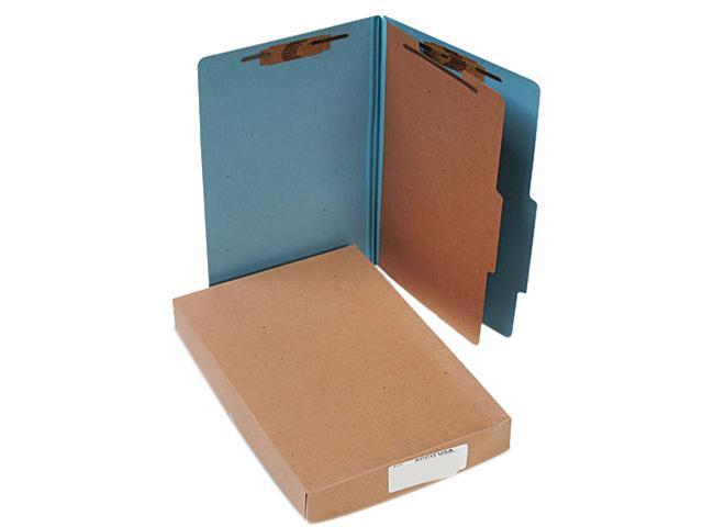 Acco 16024 Pressboard 25-Pt. Classification Folders, Legal, Four-Section, Sky Blue, 10/Box