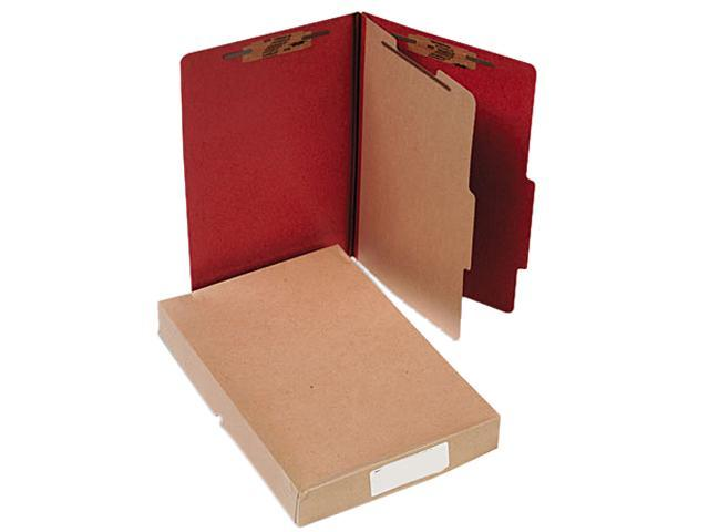 Acco 16034 Pressboard 25-Pt. Classification Folder, Legal, Four-Section, Earth Red, 10/Box