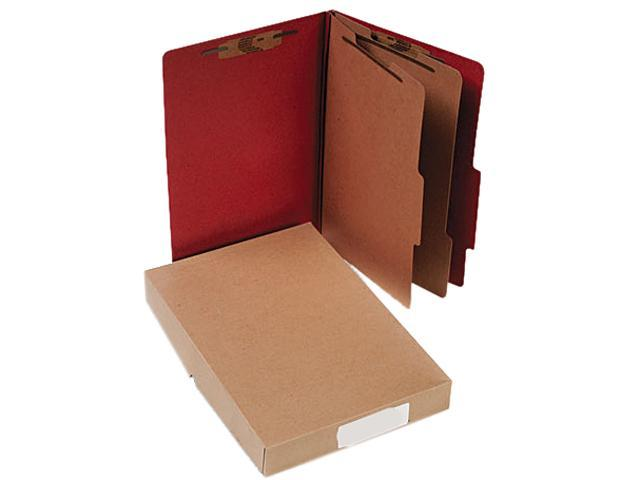 Acco 16036 Pressboard 25-Pt. Classification Folder, Legal, Six-Section, Earth Red, 10/Box
