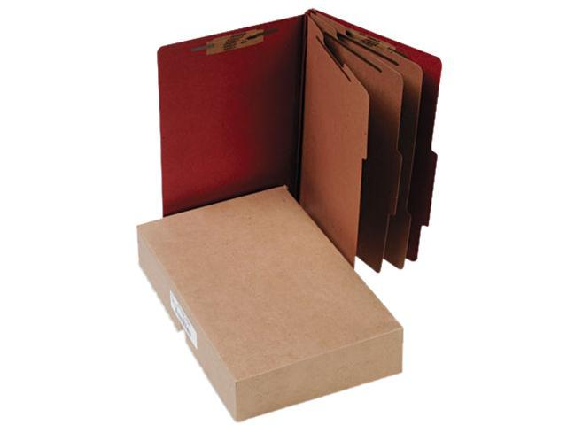 Acco 16038 Pressboard 25-Pt. Classification Folder, Legal, Eight-Section, Earth Red, 10/Box