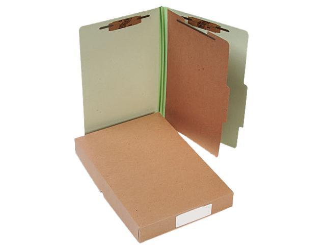Acco 16044 Pressboard 25-Pt. Classification Folders, Legal, 4-Section, Leaf Green, 10/Box