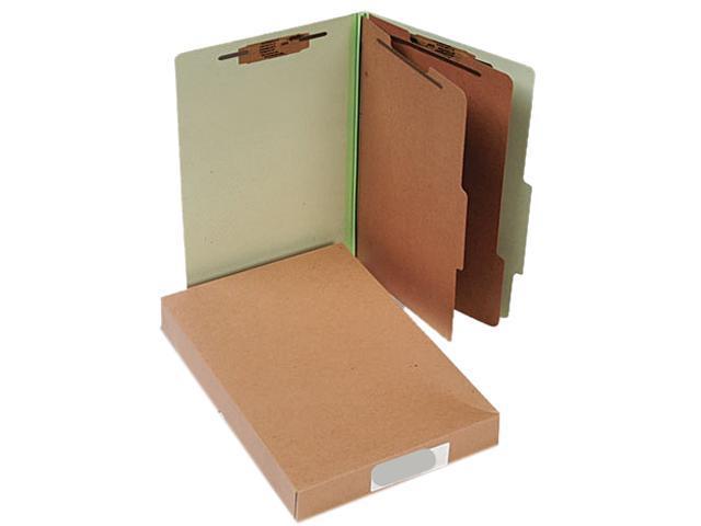 Acco 16046 Pressboard 25-Pt. Classification Folders, Legal, Six-Section, Leaf Green, 10/Box