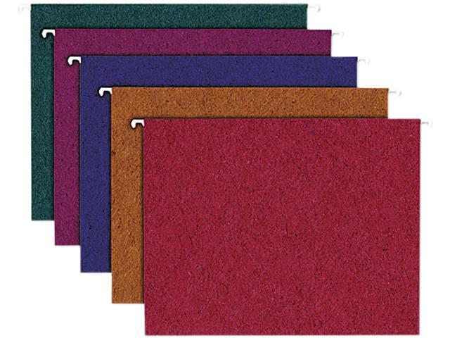 Ampad 35117 Envirotec Recycled Colored Hanging File Folders, Letter, Assorted, 20/Box