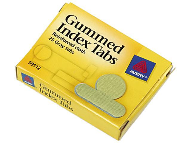 Avery 59112 Gummed Index Tabs, 5/8 in, Gray, 25/Pack