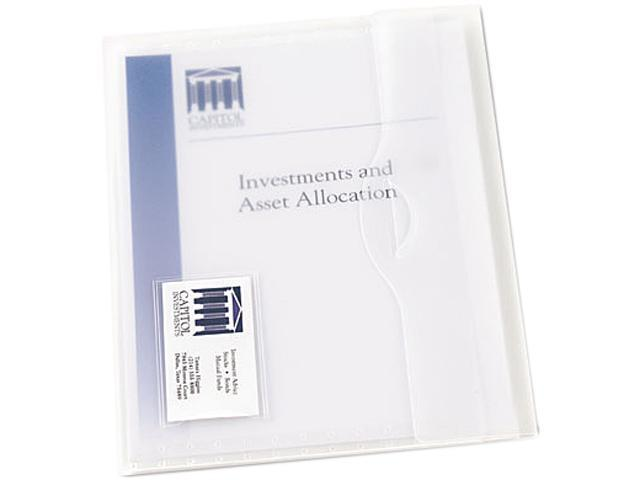 Avery 72278 Translucent Document Wallets, Letter, Poly, Clear, 12/Box