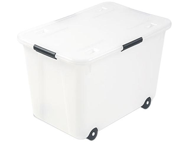 Advantus 34009 Rolling Storage Box, Letter/Legal, 15-Gallon Size, Clear