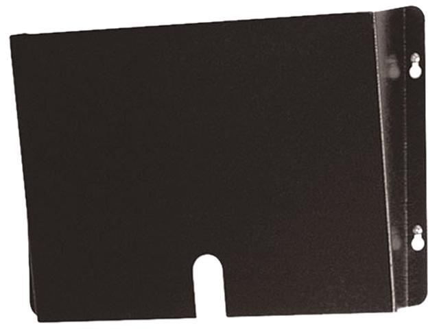 Buddy Products 5204-4 Deep Steel Wall Pocket for Medical Records, Letter, Black