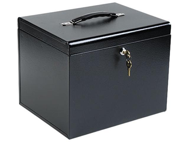 Buddy Products 604-4 Personal File Storage Box, Letter, Textured Steel, Black