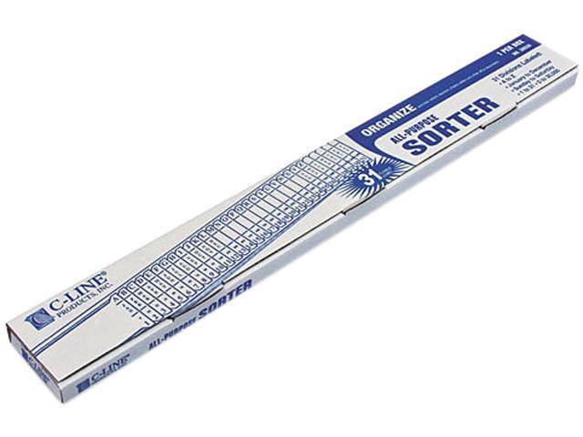 C-line 30526 Sorter, A-Z/1-31/Jan-Dec/Sun-Sat/0-30,000 Index, Letter Size, Plastic, Blue