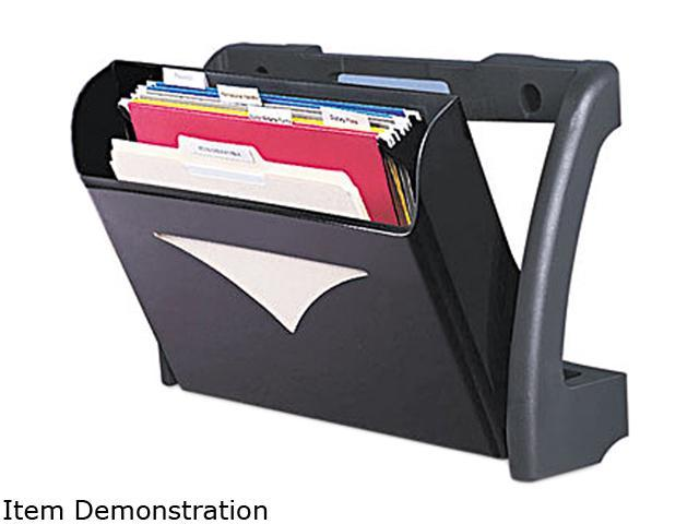 Deflect-o 694604 MegaOption Pocket Wall File, A4/Legal/Letter, Black