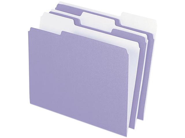 Pendaflex 1521/3LAV Two-Tone File Folder, 1/3 Cut Top Tab, Letter, Lavender/Light Lavender, 100/Box