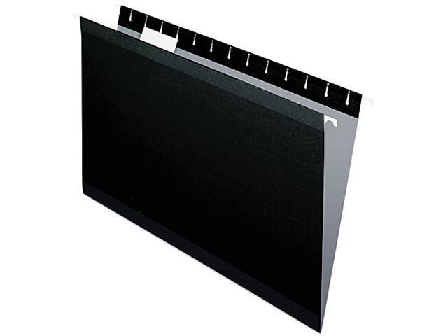 Pendaflex 415315BLA Reinforced Hanging File Folders, Legal, Black, 25/Box