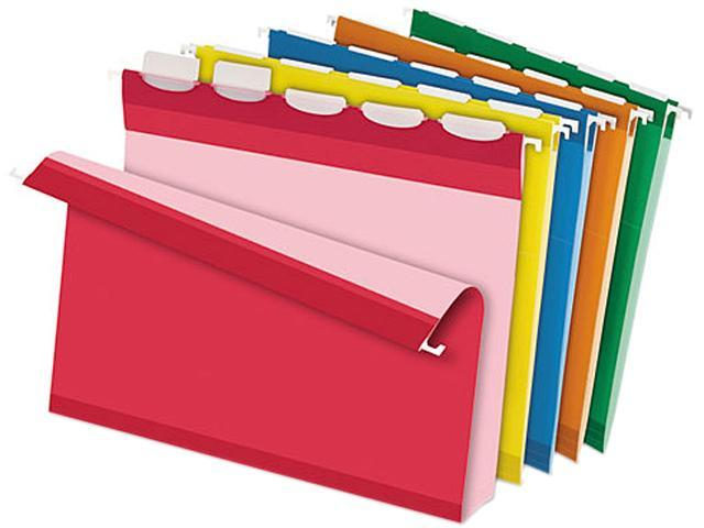 Pendaflex 42700 Ready-Tab Two Inch Reinforced Hanging File Folders, Letter, Assorted, 20/Box