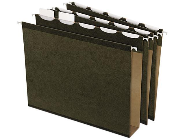 Pendaflex 42701 Ready-Tab Two Inch Reinforced Hanging File Folders, Letter, Green, 20/Box
