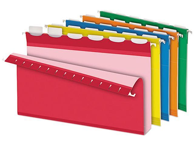 Pendaflex 42702 Ready-Tab Two Inch Reinforced Hanging File Folders, Legal, Assorted, 20/Box