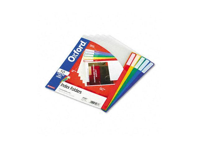 Pendaflex 50981 Expanding Index Folders, Letter, Poly, Assorted Colors, 10/Pack