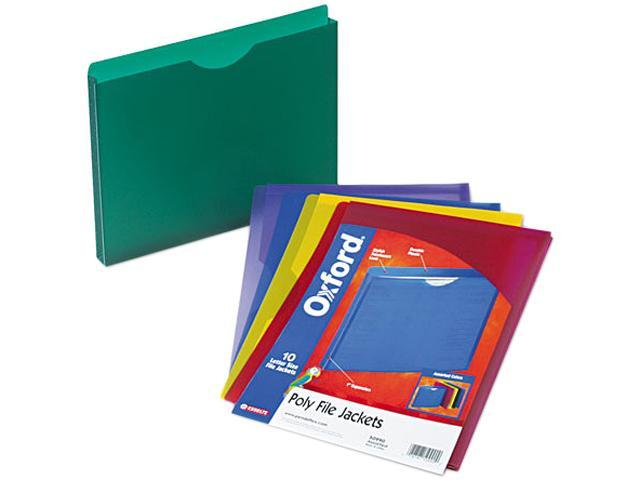 Pendaflex 50990 Expanding File Jackets, Letter, Poly, Blue/Green/Purple/Red/Yellow, 10/Pack
