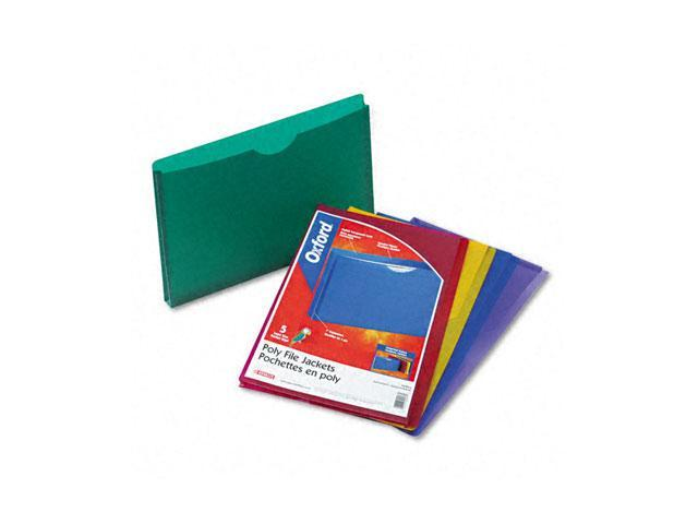 Pendaflex 50993 Expanding File Jackets, Legal, Poly, Blue/Green/Purple/Red/Yellow, 5/Pack