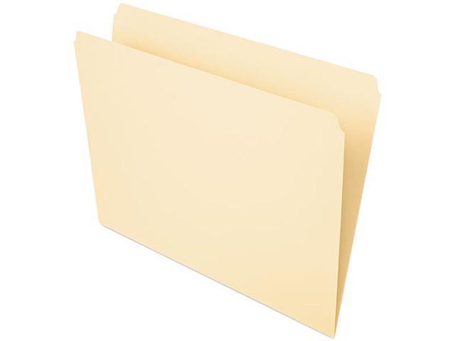 Pendaflex Essentials 752 File Folders, Straight Cut, Top Tab, Letter, Manila, 100/Box