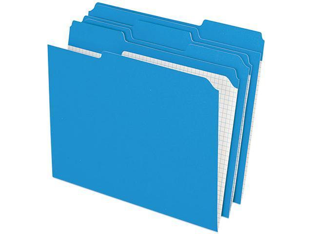 Pendaflex R15213BLU Two-Ply Reinforced File Folders, 1/3 Cut Top Tab, Letter, Blue, 100/Box