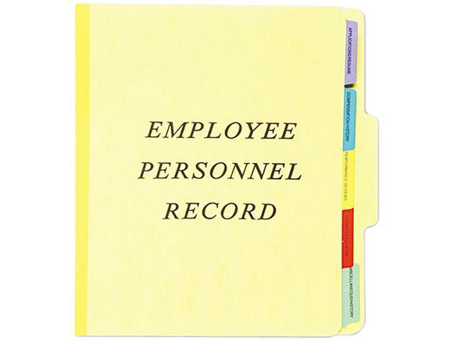 Pendaflex SER-1-YEL Vertical Personnel Folders, 1/3 Cut Top Tab, Letter, Yellow