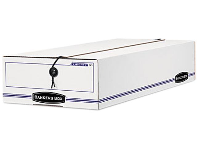 Bankers Box 00005 Liberty Check/Voucher Storage Box, 10-3/4 x 23-1/4 x 4-5/8, White/Blue, 12/Ctn.
