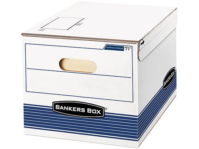 Bankers Box 0007101 Stor/File Storage Box, Letter/Lgl, 12w x 15d x 10h, White/Blue, 12/Carton