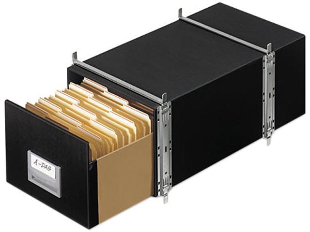 Bankers Box 00511 StaxOnSteel Storage Box Drawer, Letter, Steel Frame, Black, 6/Carton