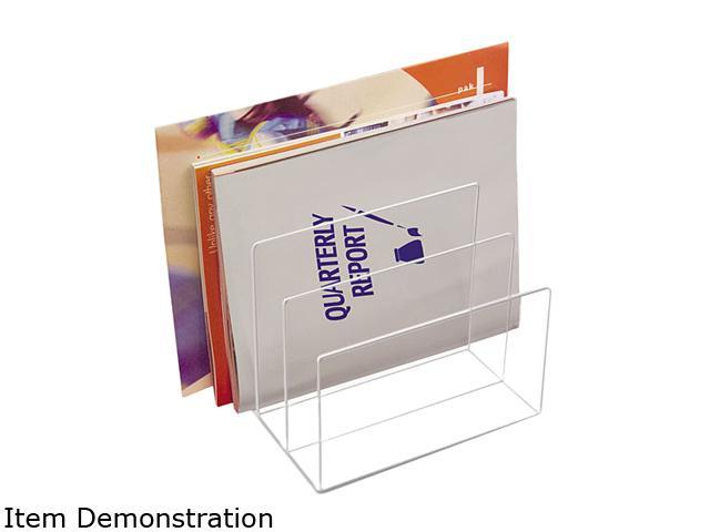 Kantek AD-45 Clear Acrylic Desk File, Three Sections, 8 x 6 1/2 x 7 1/2, Clear