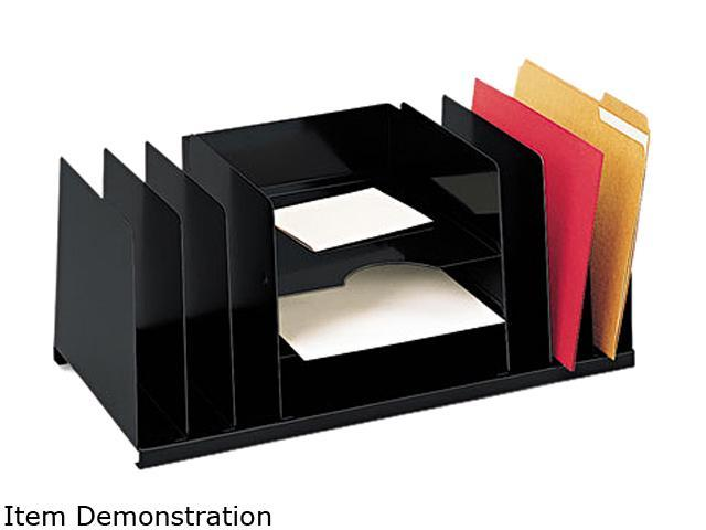 STEELMASTER by MMF Industries 2643DOBK Desk Organizer, Nine Sections, Steel, 21 1/2 x 11 x 8 3/4, Black