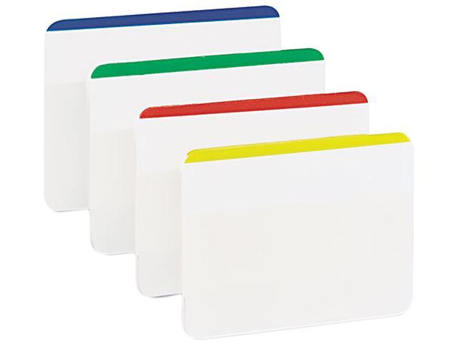 Post-it 686F1 Durable File Tabs, 2 x 1 1/2, Striped, Assorted Standard Colors, 24/Pack