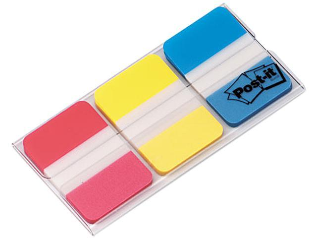 Post-it 686-RYB Durable File Tabs, 1 x 1 1/2, Assorted Standard Colors, 66/Pack