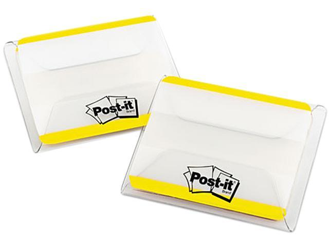 Post-it 686F-50YW Durable File Tabs, 2 x 1 1/2, Striped, Yellow, 50/Pack