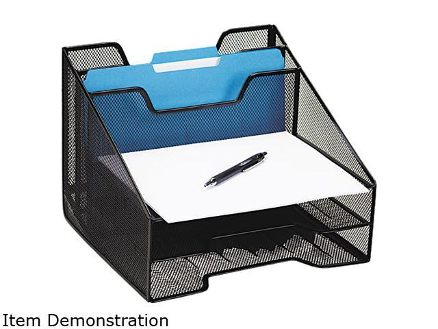 Rolodex 1742322 Combination Sorter, Five Sections, Mesh, 12 1/2 x 11 1/2 x 9 1/2, Black