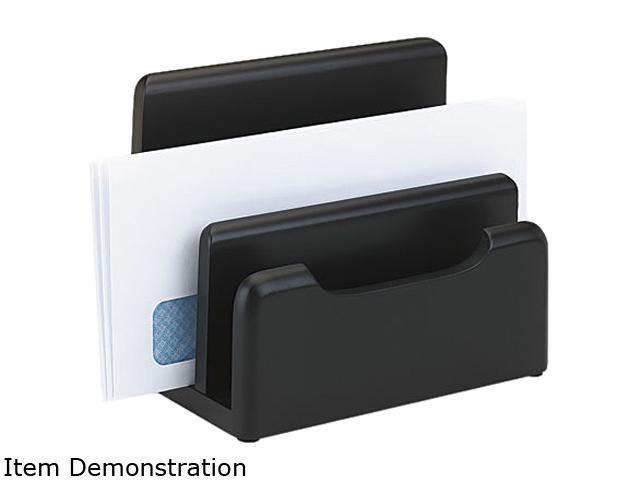 Rolodex 62525 Wood Tones Desktop Sorter, Three Sections, Wood, Black
