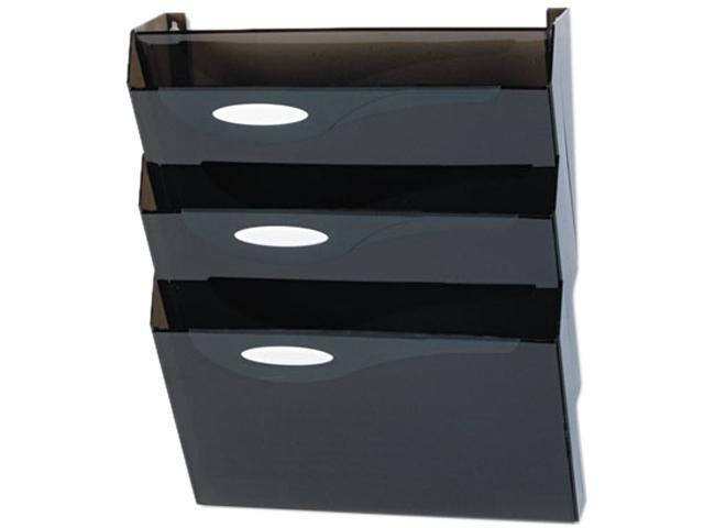 Rubbermaid L16603 Classic Hot File Wall File Systems, Letter, Three Pocket, Smoke